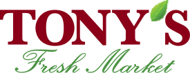 A theme logo of Tony's Fresh Market