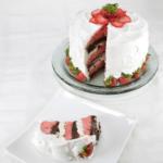 Tony's Cream-Filled Strawberry Brownie Cake